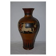 A Large Absolute Beautiful Handpainted Vase with Greece Scene