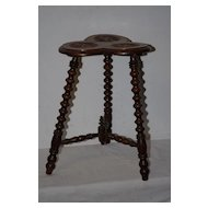 Antique Carved Wood Plant-stand