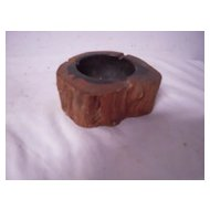 An Antique Wooden Ashtray