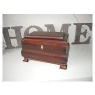 An Antique Baroque Wooden(mahogany) Tea Caddy Box