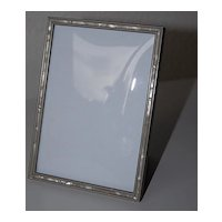 Lovely Metal Picture Frame with Mother of Pearl Inlaid Border