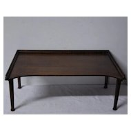 Antique English Portable Folding Butler Tray / Stand