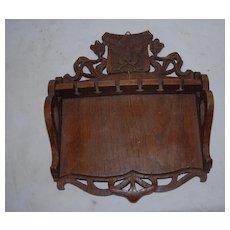 Art Nouveau Carved in Wood(oak)Spoon Wall Display Rack
