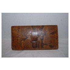 Vintage Boa Constrictor Leather Purse / Handbag