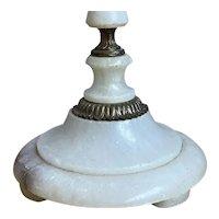 Midcentury Modern / Vintage  Alabaster and Bronze Floor lamp, c1950