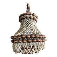 Vintage Seashell Pendant light, Boho Beach Decor