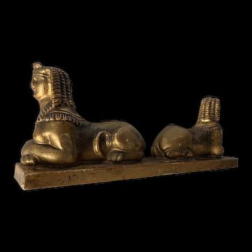 Antique Empire Revival Sphinx Sculpture Picture Frame Top