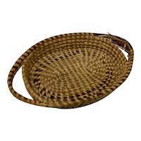 Antique Charleston Sweet Grass Basket, Oval with Double Handles