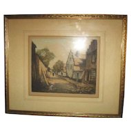 Lucien Dasselborne Original Artist's Proof Etching, Signed & Framed