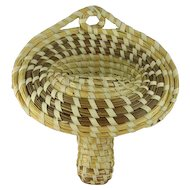 "Vintage Charleston Sweet Grass ""Jack in the Pulpit"" Basket Wall Pocket"