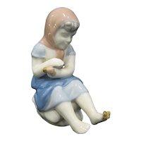 Gerold Porzellan Bavaria Girl with Butterfly on Toe Figurine