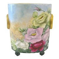 Guerin Limoges Cache Pot with Roses