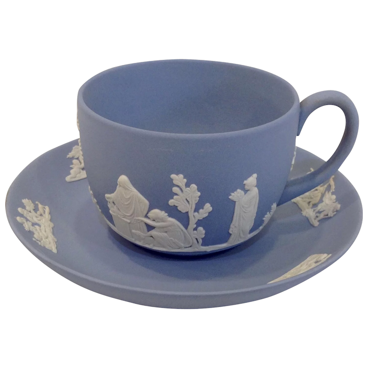 Wedgwood Blue Jasperware Cup And Saucer