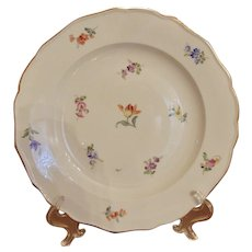 Antique Meissen Scattered Flowers Dinner Plate