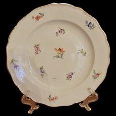 Antique Meissen Scattered Flowers Dinner Plate