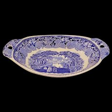 Staffordshire Mason's Vista Oval Vegetable Bowl with Pierced Handles