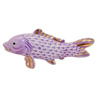 Herend Porcelain Fish in Lilac