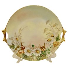 Hutschenreuther Selb Bavarian Porcelain Gold Handled Cake Plate