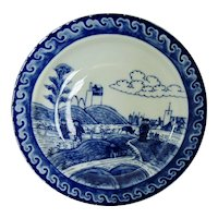 Mottahedeh Chinese Export Blue and White Plate