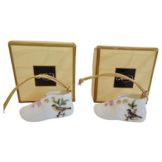Herend Rothschild Bird Mini Baby Shoe Ornament - Buy 1 or 2