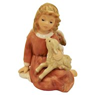 Goebel Little Shephard Shepherd Angel with Lamb Figurine