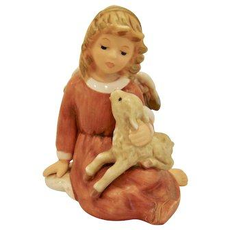 Goebel Little Shephard Shepherd Angel with Lamb Figurine