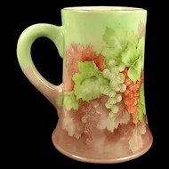 c.1900 American Lenox Belleek Tankard/Mug, Hand Painted, Gorgeous