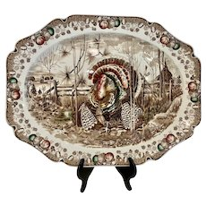 "Johnson Brothers His Majesty 20"" Staffordshire Turkey Platter"