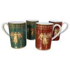 Set of 4 Mottahedeh Williamsburg Angel Gabriel Mugs