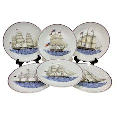 Set of 6 Mottahedeh Our Maritime Heritage Ships Plates