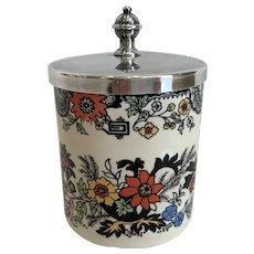 Vintage Jon Anton Staffordshire Chinoise Jam Pot