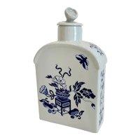 Copeland Spode Blue Bowpot Tea Caddy