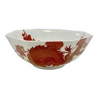 Fitz & Floyd Temple Dragon Octagonal Bowl
