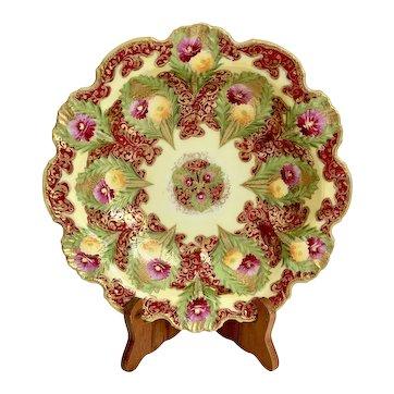 Antique Satsuma Lobed Bowl