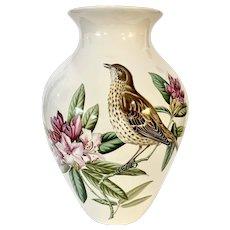 "Beautiful Spode 10"" Porcelain Vase Bird and Flowers"