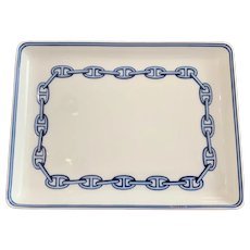 Hermes Chaine D'Ancre Tray in Blue