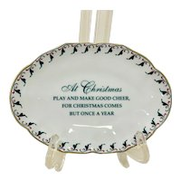 Mottahedeh Williamsburg Christmas Trinket Dish