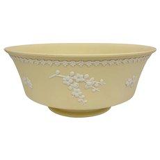 Wedgwood Large Yellow Jasperware Prunus Blossom Emperor Bowl