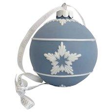 Wedgwood Blue Jasperware Snowflake Christmas Ornament