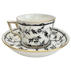 Hammersley for Tiffany & Co Black Bamboo Cup and Saucer