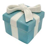 Tiffany & Co Blue and White Porcelain Trinket Ring Box