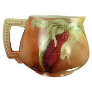 Antique Jean Pouyat Limoges Cider Pitcher Corn Motif - Stunning!