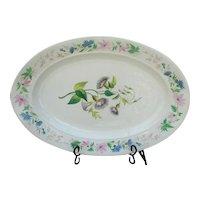 """Oversize Antique Paris Porcelain Platter """"Jardin de Fleurs"""""""