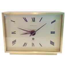 Mid Century Modern Tiffany & Co Desk Clock