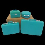 Vintage Fashion Doll 4 Piece Luggage Set in Original Box