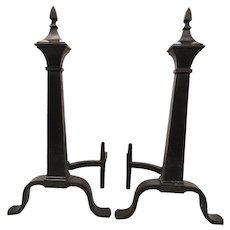 Bradley & Hubbard Arts and Crafts Steeple Andirons