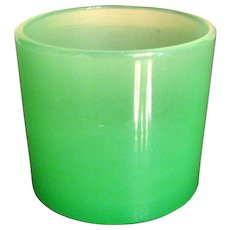 Steuben Glass Jade Toothpick Holder or Salt Dip