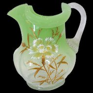 Harrach Bohemian Art Glass Pitcher