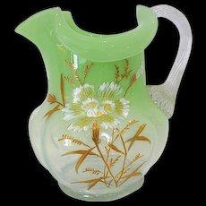 Harrach Bohemian Art Glass Pitcher