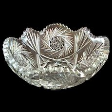 American Brilliant Glass Bowl Lawndale by Quaker City Cut Glass Co